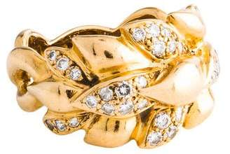 Chanel 18K Diamond Wheat Ring