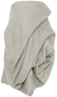 Rick Owens Strapless Gathered Mohair-Blend Mini Dress