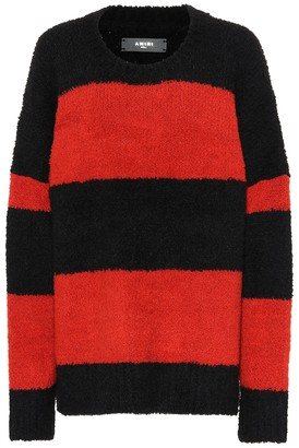Amiri Striped wool-blend sweater