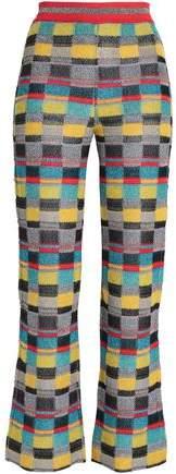 Metallic Jacquard-Knit Bootcut Pants