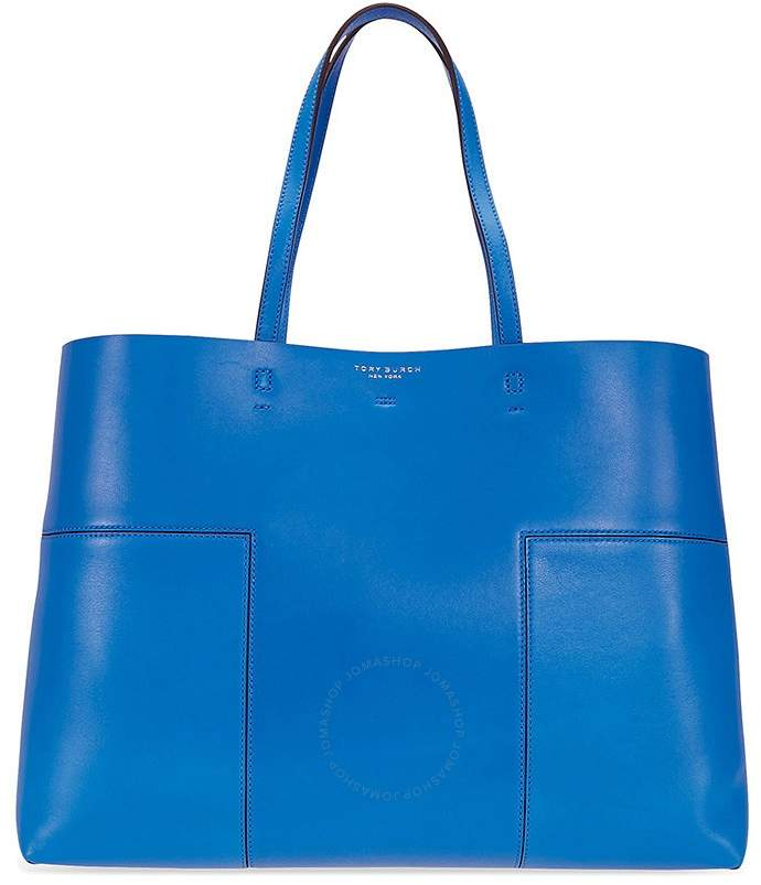 Tory Burch Block-T Leather Tote - Tory Navy - ONE COLOR - STYLE