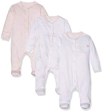 Mothercare Baby Girls' Little Mouse-3 Pack Bodysuit