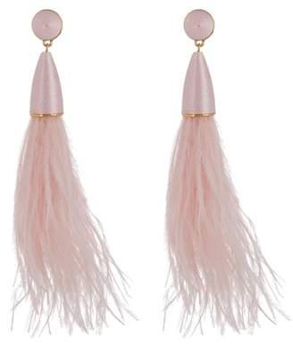 BaubleBar Chateau Feather Dangle Earrings