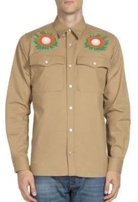 Stella McCartney Lennon Floral Embroidered Shirt