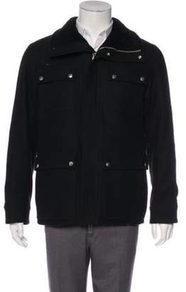 Christian Dior Wool Shearling-Lined Field Jacket black Wool Shearling-Lined Field Jacket