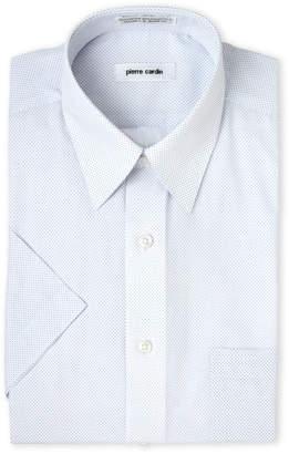Pierre Cardin Dot Print Short Sleeve Dress Shirt