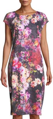 5twelve Rustic Floral-Print Scuba Midi Dress