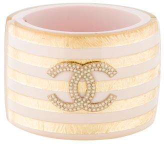 Chanel Metallic Striped Cuff $925 thestylecure.com
