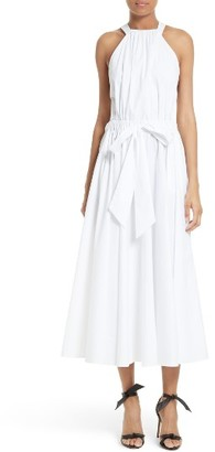 Women's Milly Lizzy Stretch Poplin Sash Waist Sundress $595 thestylecure.com