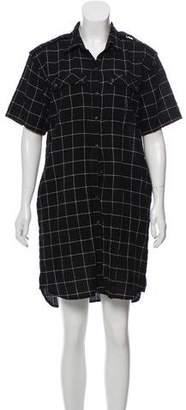 Current/Elliott Windowpane Plaid Mini Dress