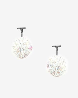 Express Tuleste Lurex Pom Pom T Stud Earrings