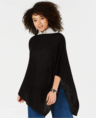 Charter Club Pure Cashmere Solid Basic Poncho, Created for Macy's