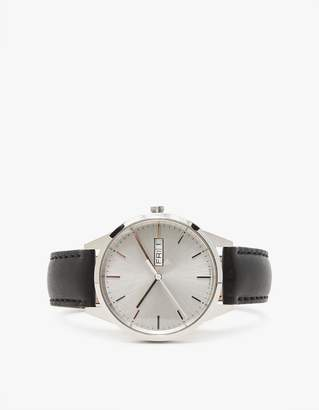 Uniform Wares C40 Brushed Steel Nappa Leather Strap Watch