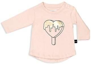 Huxbaby Girls' Metallic Heart Pop Tee - Baby