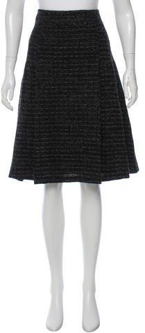Burberry London Tweed Wool-Blend Skirt