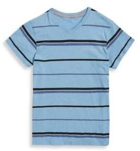 Calvin Klein Jeans Boy's Striker Stripe V-Neck Tee