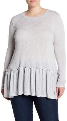 Bobeau Peplum Knit Top (Plus Size)