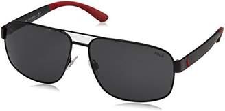 Polo Ralph Lauren Men's 0Ph3112 903887 Sunglasses, (Black/Grey)