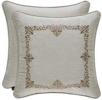 "J Queen New York Donatella Linen 18"" Sqaure Collection Decorative Pillow"