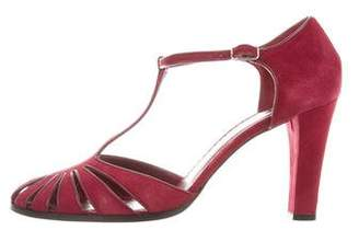 Marc Jacobs Suede Round-Toe Sandals