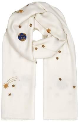 Janavi Galaxy Embellished Merino Wool Scarf