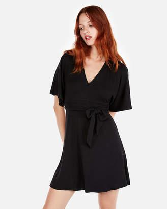 Express Tie Front Kimono Sleeve Dress