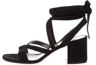 Gianvito Rossi Janis Low Lace-Up Sandals