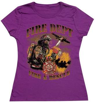 D.E.P.T Promotion & Beyond P&B Fire Local Heroes Fire and Rescue Women's T-Shirt, 3XL