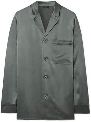 Joseph Rupert Silk-satin Shirt - Gray green