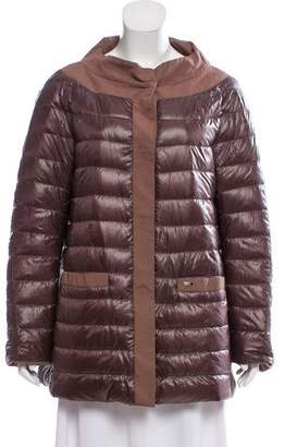 Herno Puffer Button Front Coat