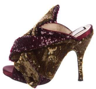 No.21 No. 21 Embellished Glitter Mules w/ Tags