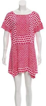 Thakoon Mini Short Sleeve Dress
