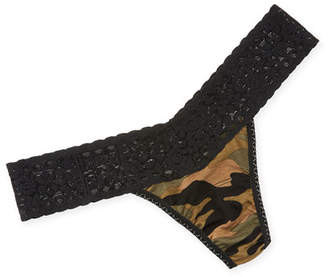 Hanky Panky Camouflage-Print Low-Rise Thong
