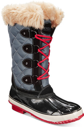 Khombu Women's Melanie Lace-Up Faux-Fur Boots $119 thestylecure.com