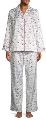 Carole Hochman Two-Piece Printed Pajama Set