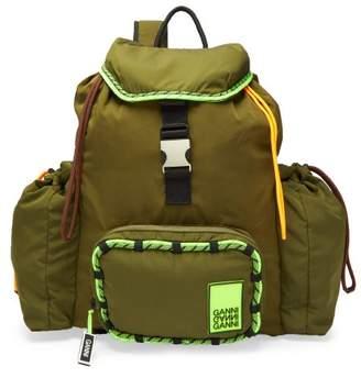 Ganni Azalea Technical Backpack - Womens - Khaki