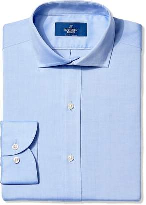 Buttoned Down Men's Slim Fit Cutaway-Collar Non-Iron Dress Shirt (No Pocket)