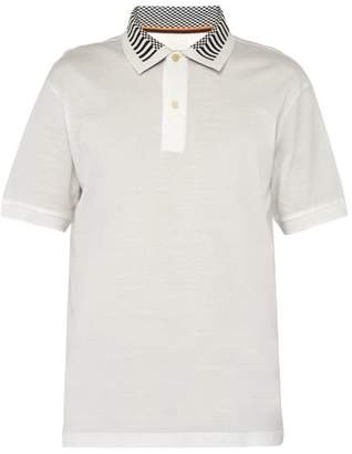 Paul Smith Striped Collar Cotton Polo Shirt - Mens - White