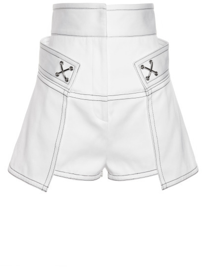 Alexander Wang High Waisted Short With Contrast Topstitching
