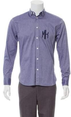 MAISON KITSUNÉ Logo Embroidered Shirt w/ Tags