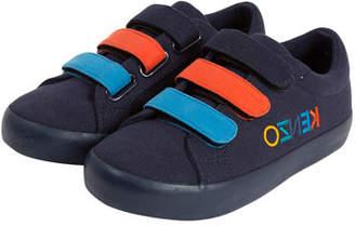 Kenzo Colorblock Logo-Sides Sneaker, Kids