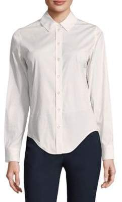 Becken Luxe Slim-Fit Button-Down Blouse