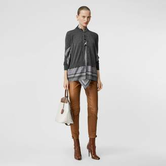 Burberry Biker Leather Trousers