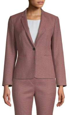 BOSS Kalenka Notch Lapel Graphic Jacket