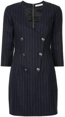 Pierre Balmain double breasted pinstripe dress