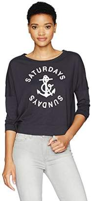 Sundry Women's Crop Long Sleeve Saturdays