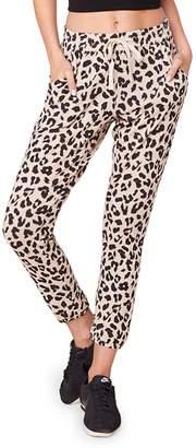 BB Dakota Cat Walk Leopard-Print Jogger Pants