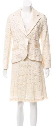 Rebecca Taylor Silk-Trimmed Lace Skirt Suit
