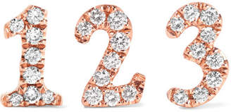 Anita Ko Number 18-karat Rose Gold Diamond Earring