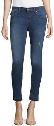 Karl Lagerfeld Paris Women's Released Hem Ankle Skinny Jeans